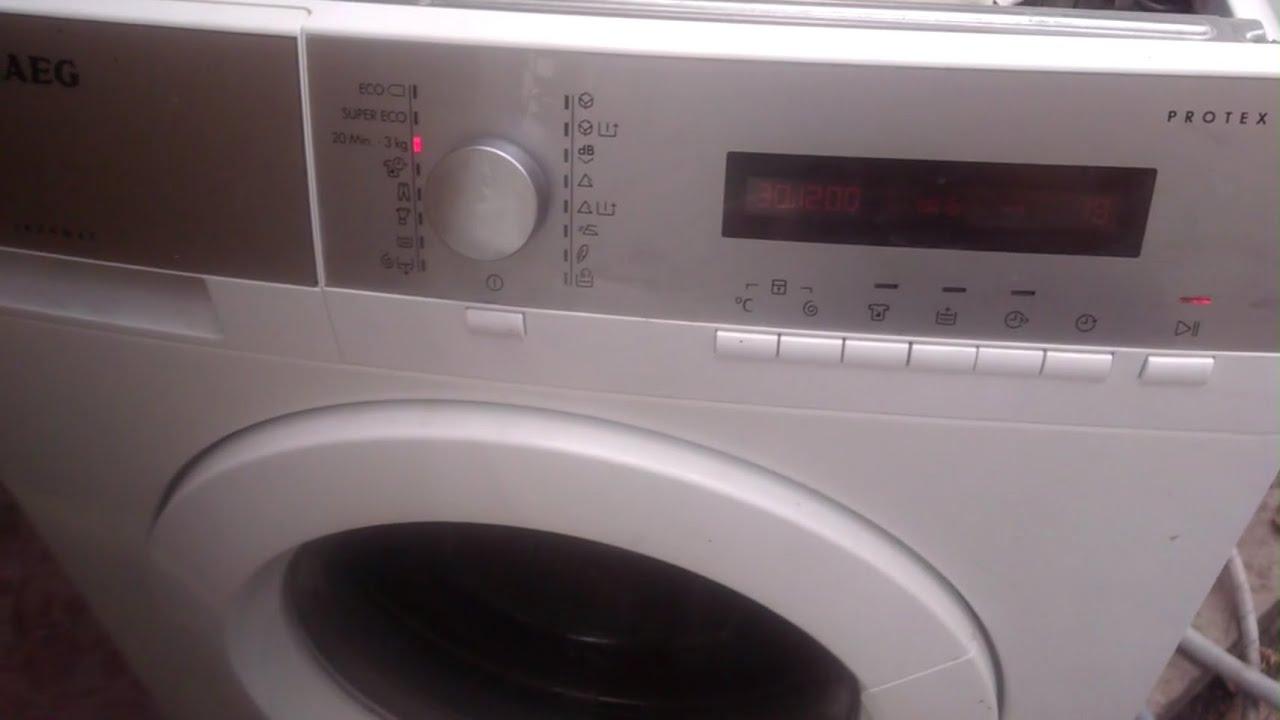 Ремонт стиральной машинки AEG PROTEX. Включается. Выдает ошибку 59 ошибка тахометра