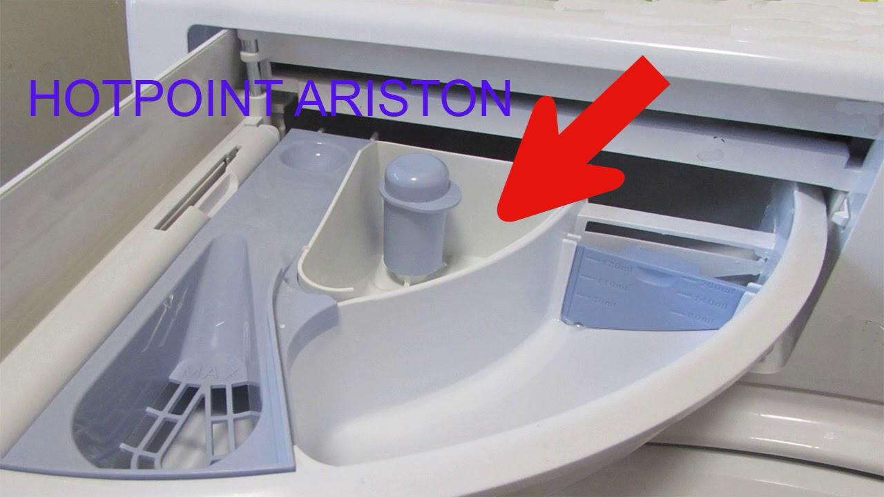 Как и куда засыпать порошок в стиральной машине HOTPOINT ARISTON