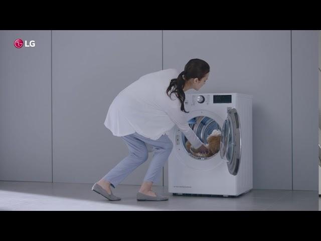 Сушильная машина LG DUAL Inverter Heat Pump. Борьба с аллергенами