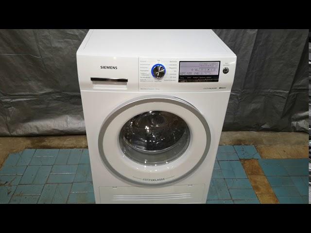 Обзор стирально-сушильной машины Siemens IQ890 ExtraKLASSE WD15H590