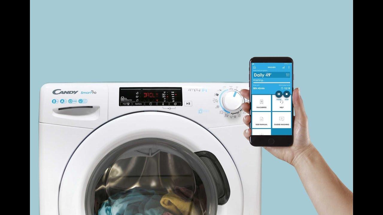 Стиральные машины Candy Smart Pro с 9 быстрыми программами и возможностью дистанционного управления