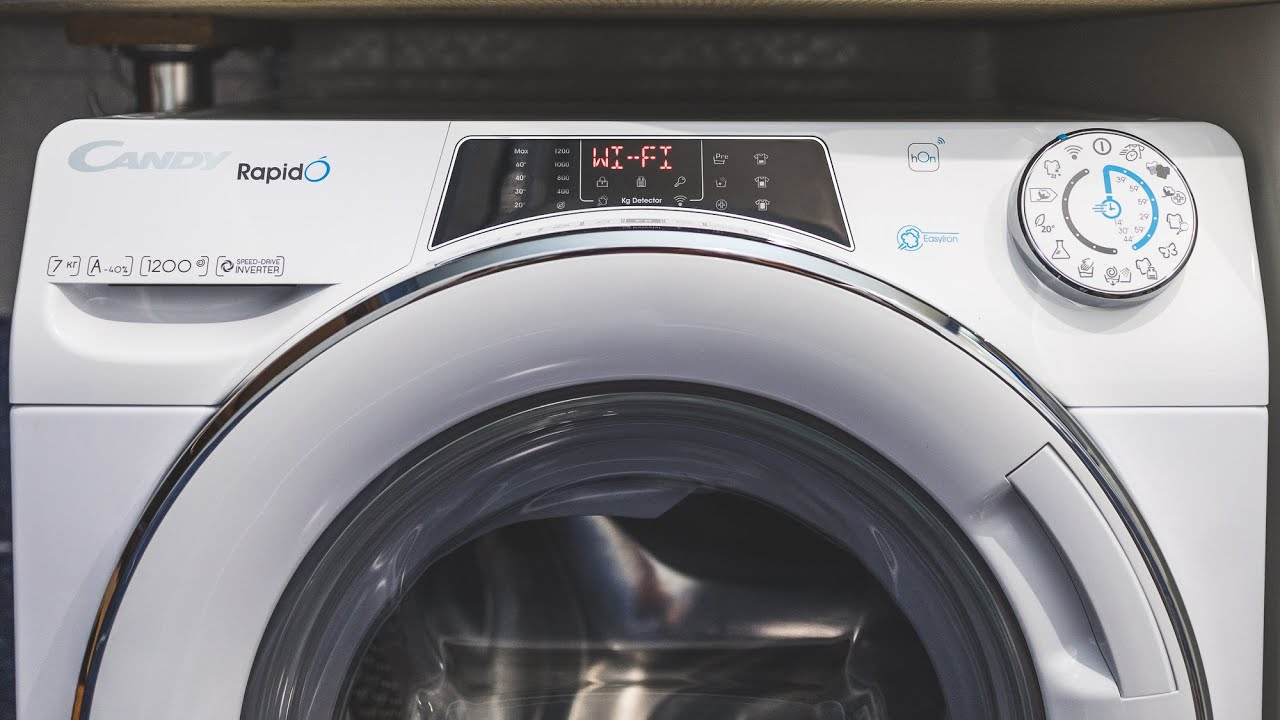 Обзор стиральной машины CANDY RAPIDÓ с беспроводным управлением по Wi-Fi   ТЕХНОМОД
