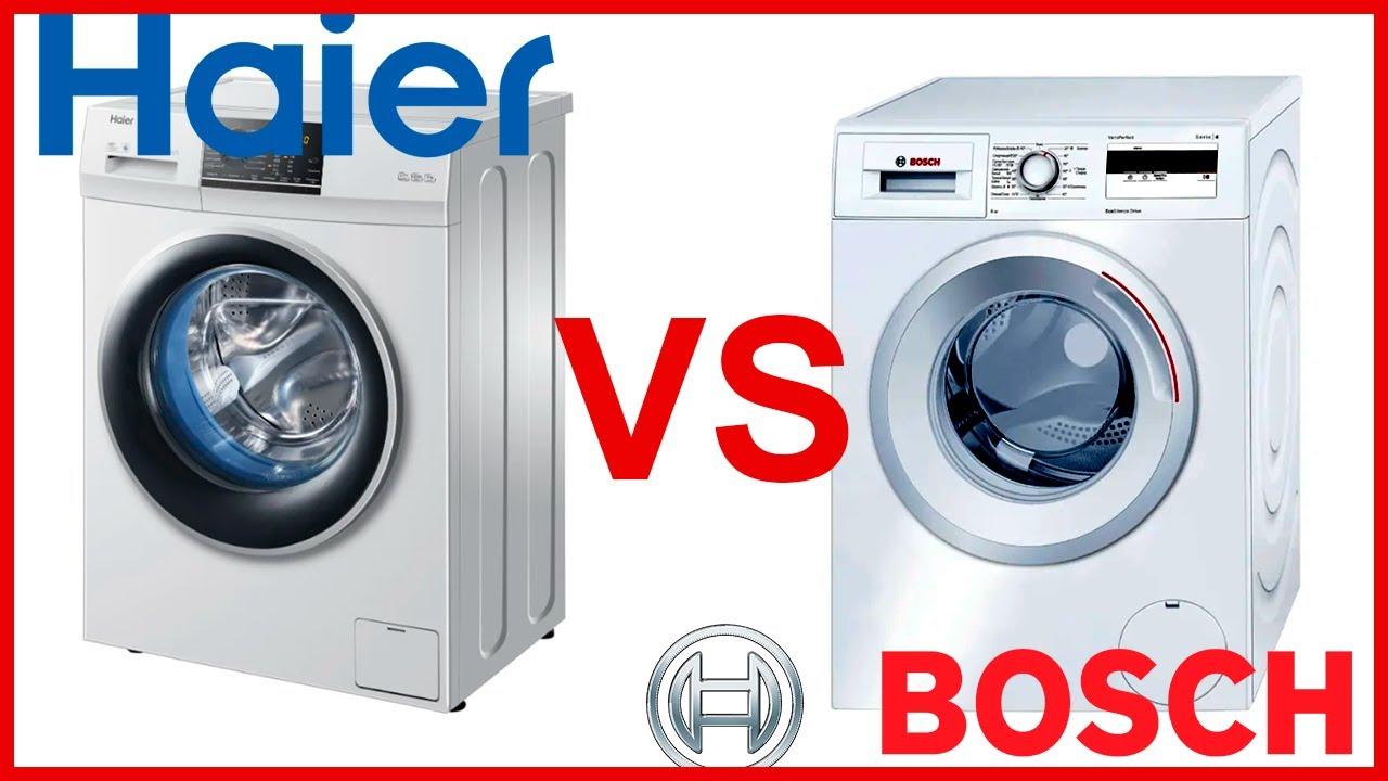 Какая стиральная машина лучше Haier или Bosch