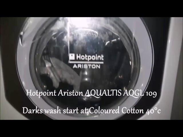 Hotpoint Ariston Aqualtis AQGL 109 - Coloured Cotton 40°C Starting