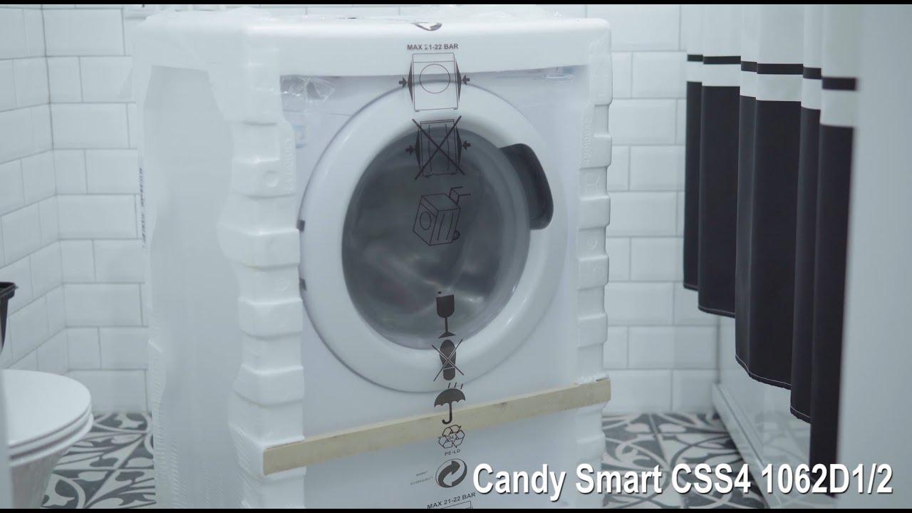 Стиральная машина Candy Smart CSS4 1062D12 распаковка и установка
