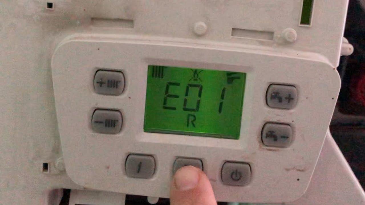 Cum se reseteaza eroarea E01 la centrala Baxi MainFour, Westen anulare avarie E01 Lipsa Gaz
