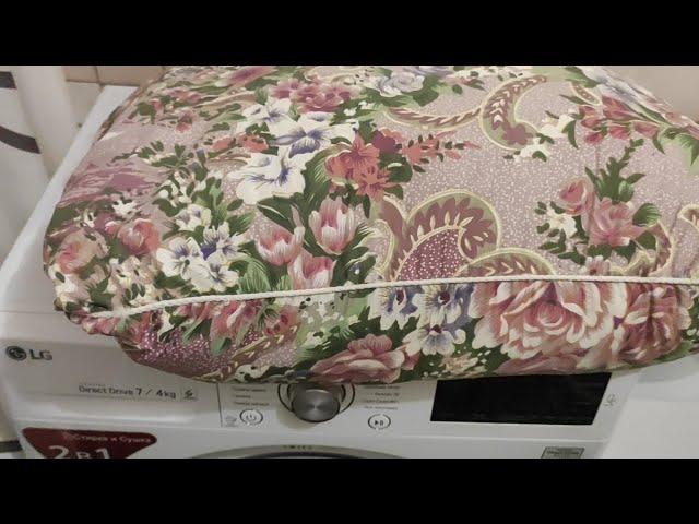 Сушка в стиральной машинке LG F12U2HDM1N 1.5 года эксплуатации Сушка подушек.