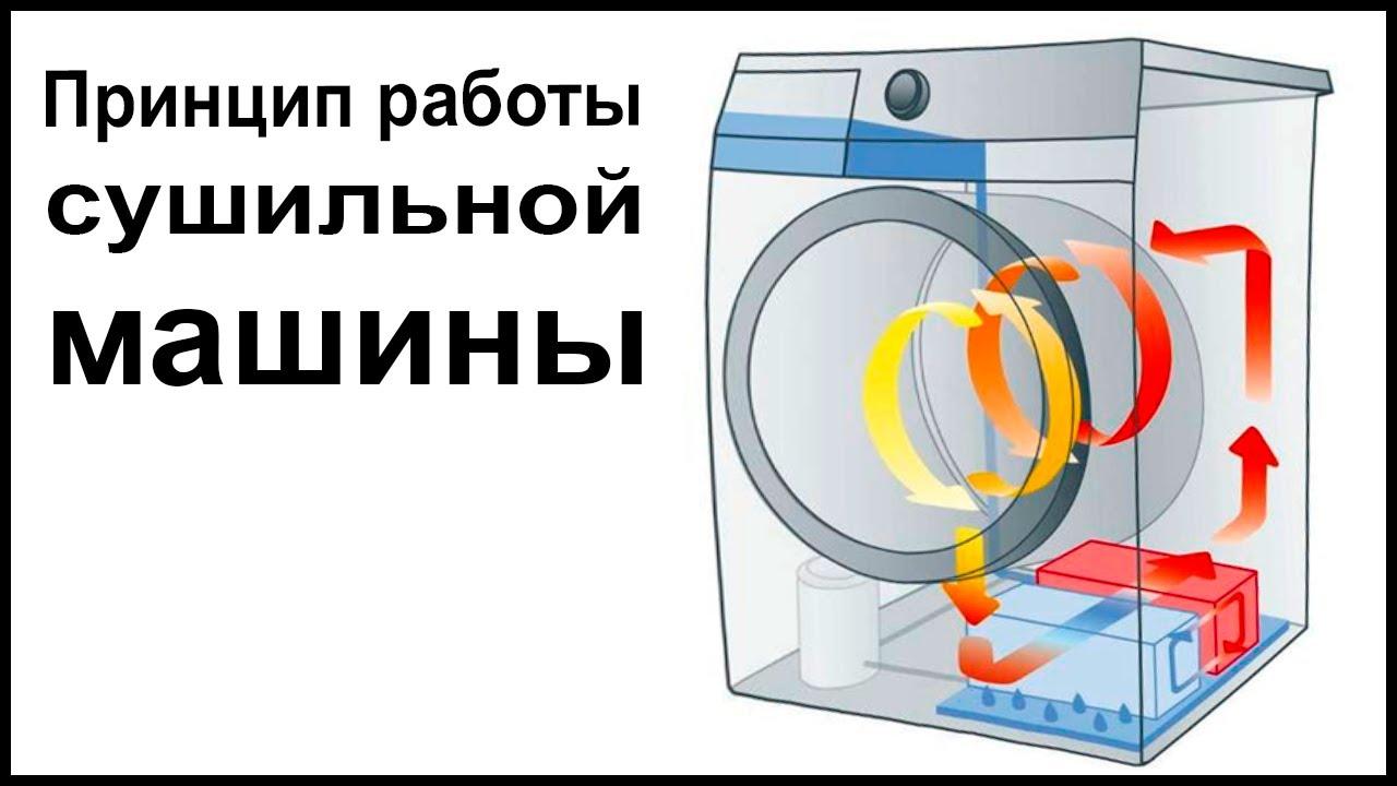 Принцип работы сушильной машины