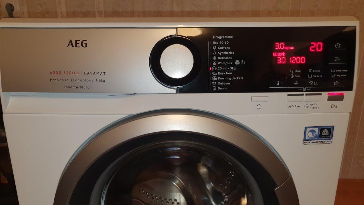 AEG L6SE26SE - 38cm 6kg 2021г. 4К Обзор и Распаковка стиральной машины AEG на 6.0кг.