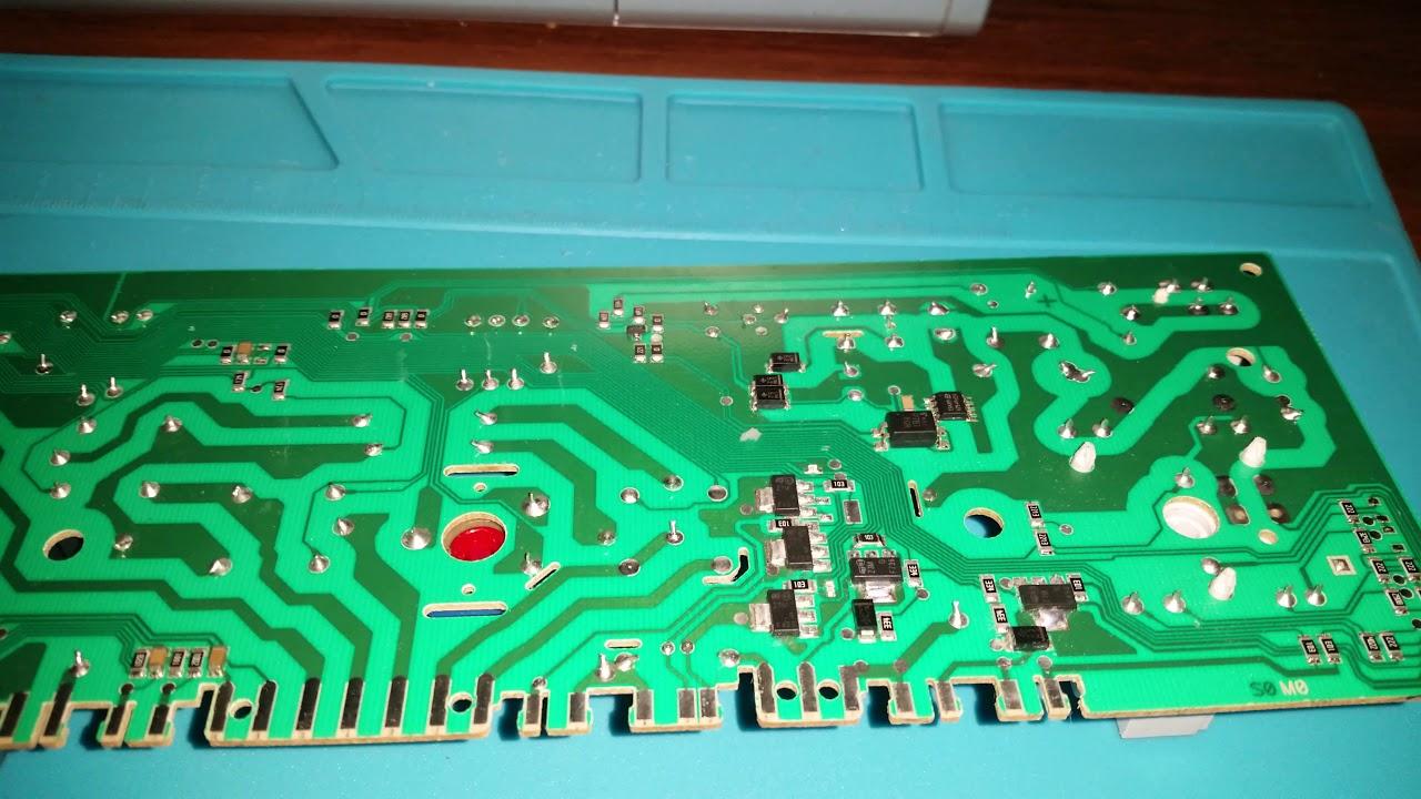 Модуль управления стиральной машины Hansa ошибка F01