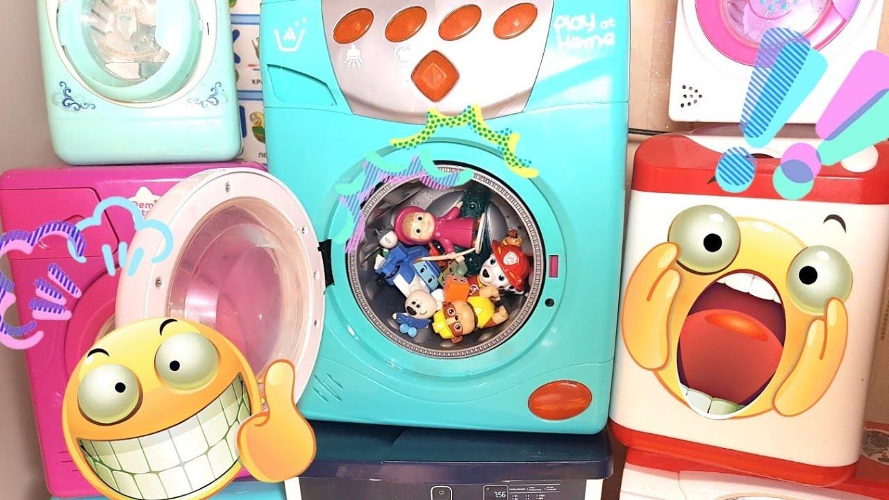 Детская стиральная машина. Стираем вместе. Прачечная.