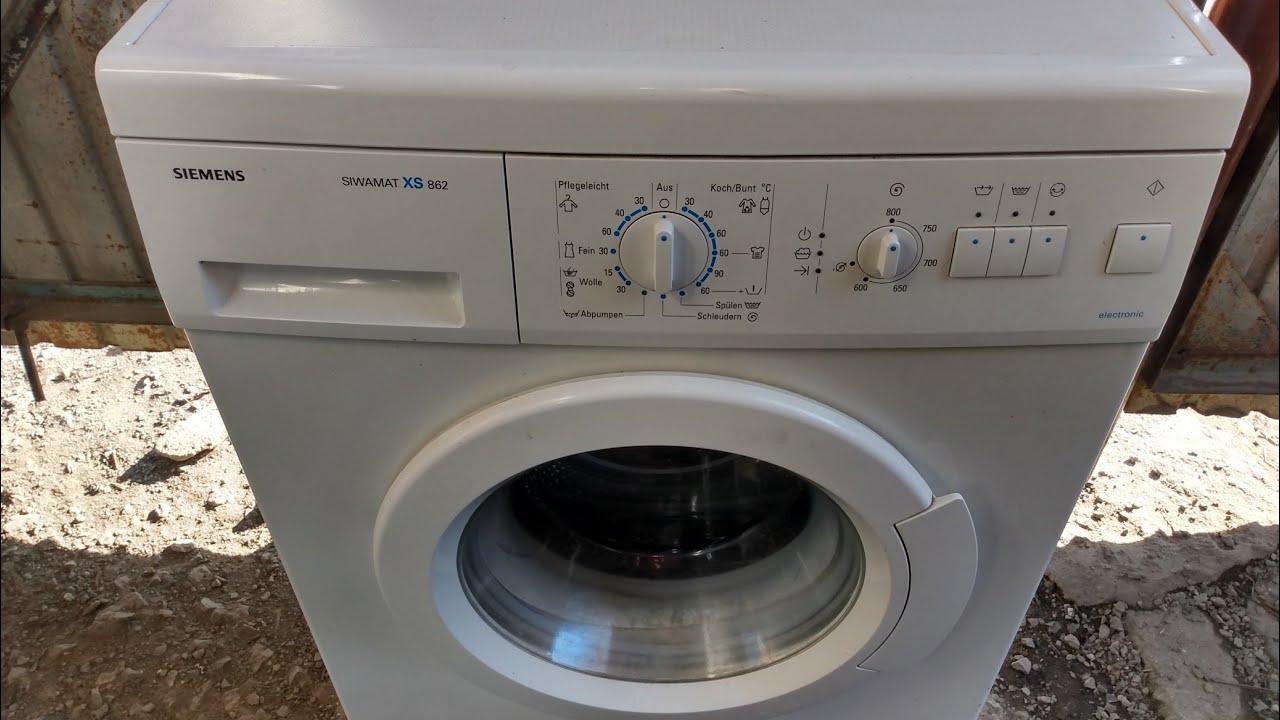 обзор инструкция стиральная машина Siemens siwamat wxs 862 OE 05 fd