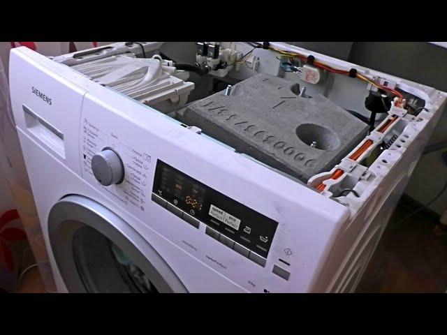 Течет стиральная машинка, ищем причину и устраняем У меня машинка Siemens, показывает ошибку 23