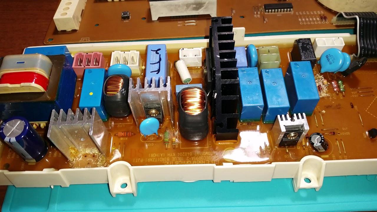 Модуль управления стиральной машины LG неисправность по 12в